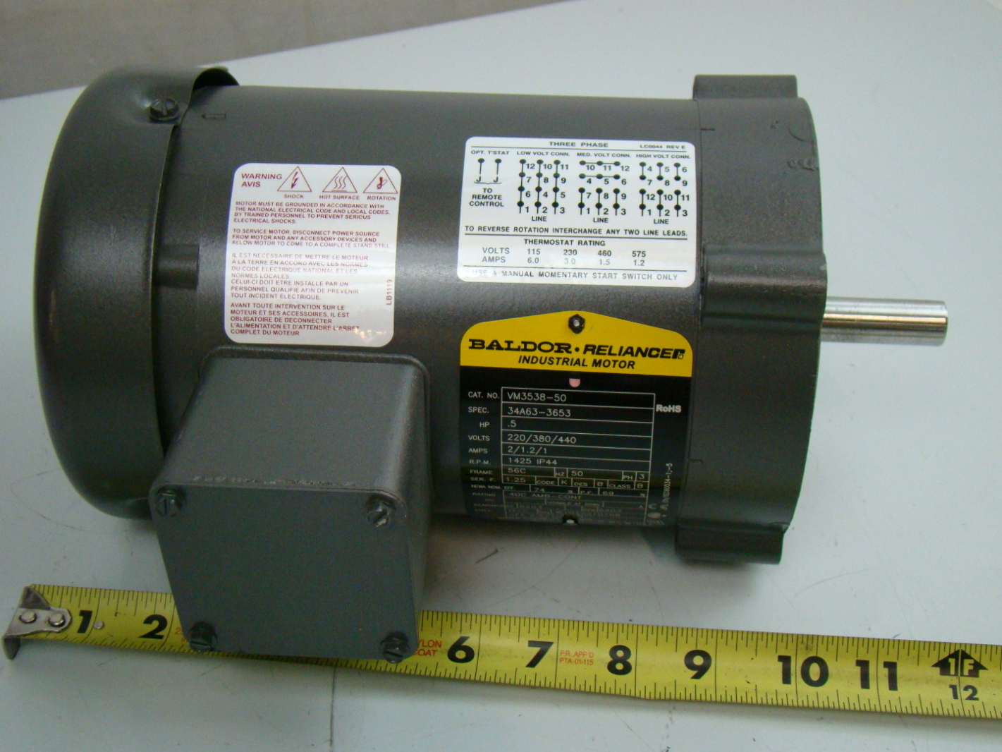 Baldor 1 2 Hp 1425 Rpm Electric