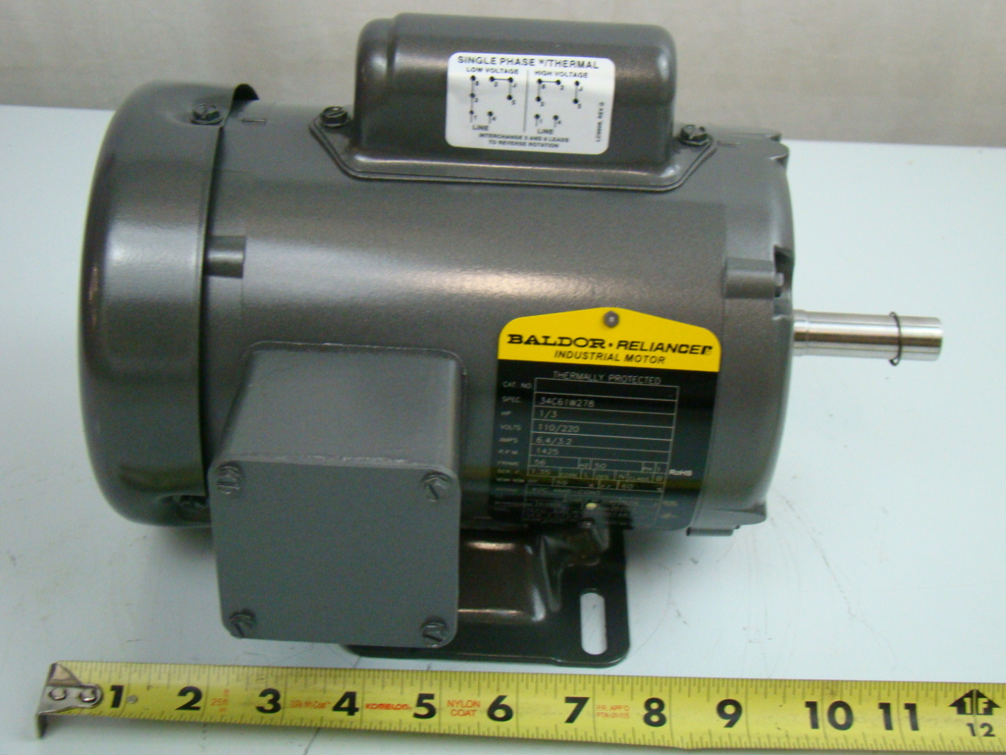 Baldor 1 3 Hp 1425 Rpm Electric Motor 34a63 3653 Ebay