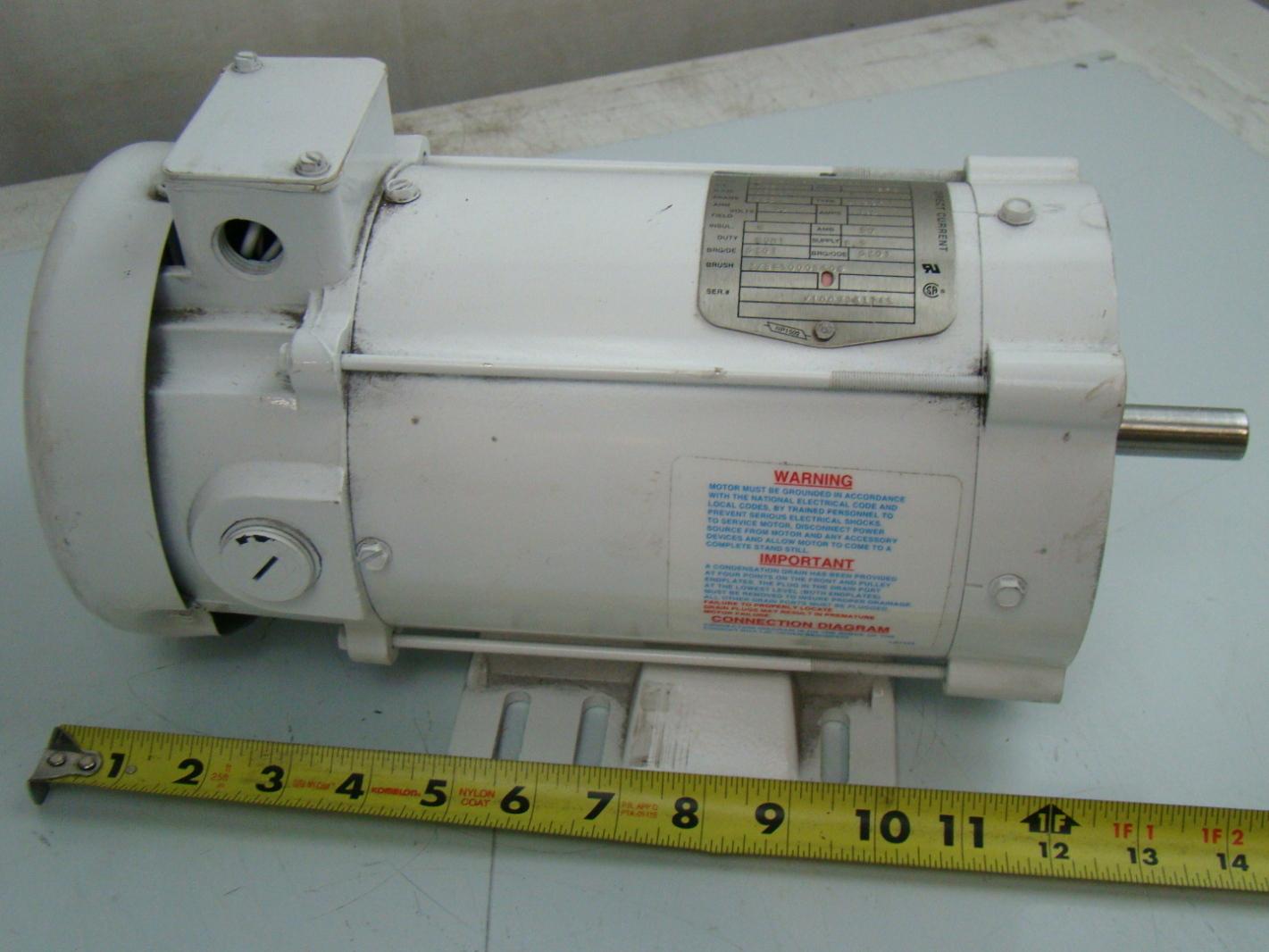 Baldor 3 4 hp 1750 rpm electric motor 34 6418 3662g5 ebay for Mcd motors mobile al