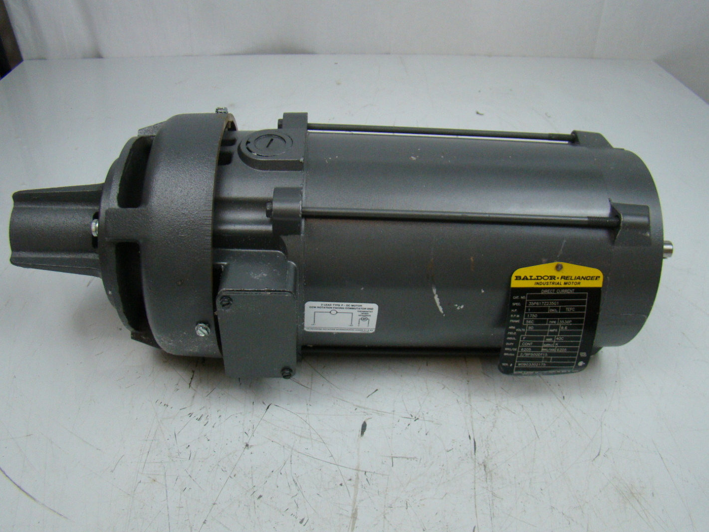 Baldor Reliancer 1hp Dc Electric Motor 90v 35p617z235g1 Ebay