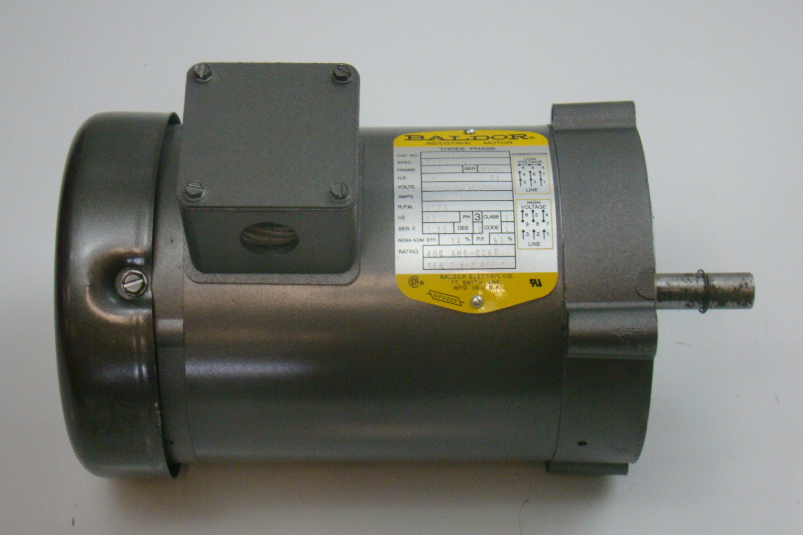 baldor 1 2 hp 1725 rpm electric motor vm3538 ebay