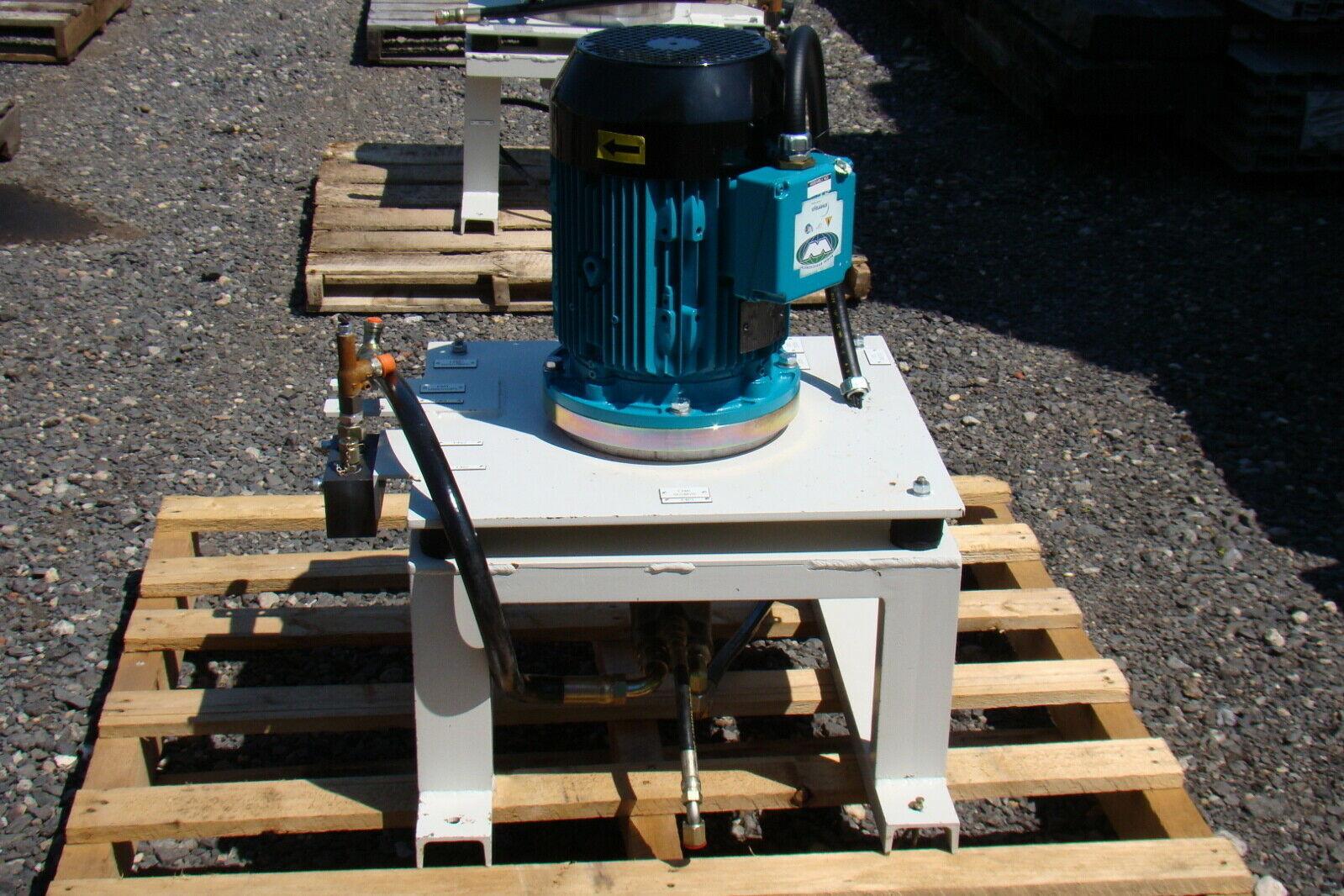 7 5hp 460v Motor Coupled To Parker Hydraulic Pump Joseph