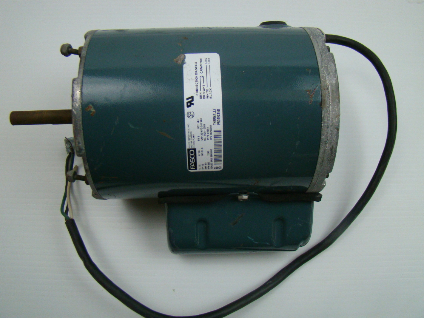 Fasco 1 2 hp electric motor 115v 7128 0589 ebay for One horsepower electric motor