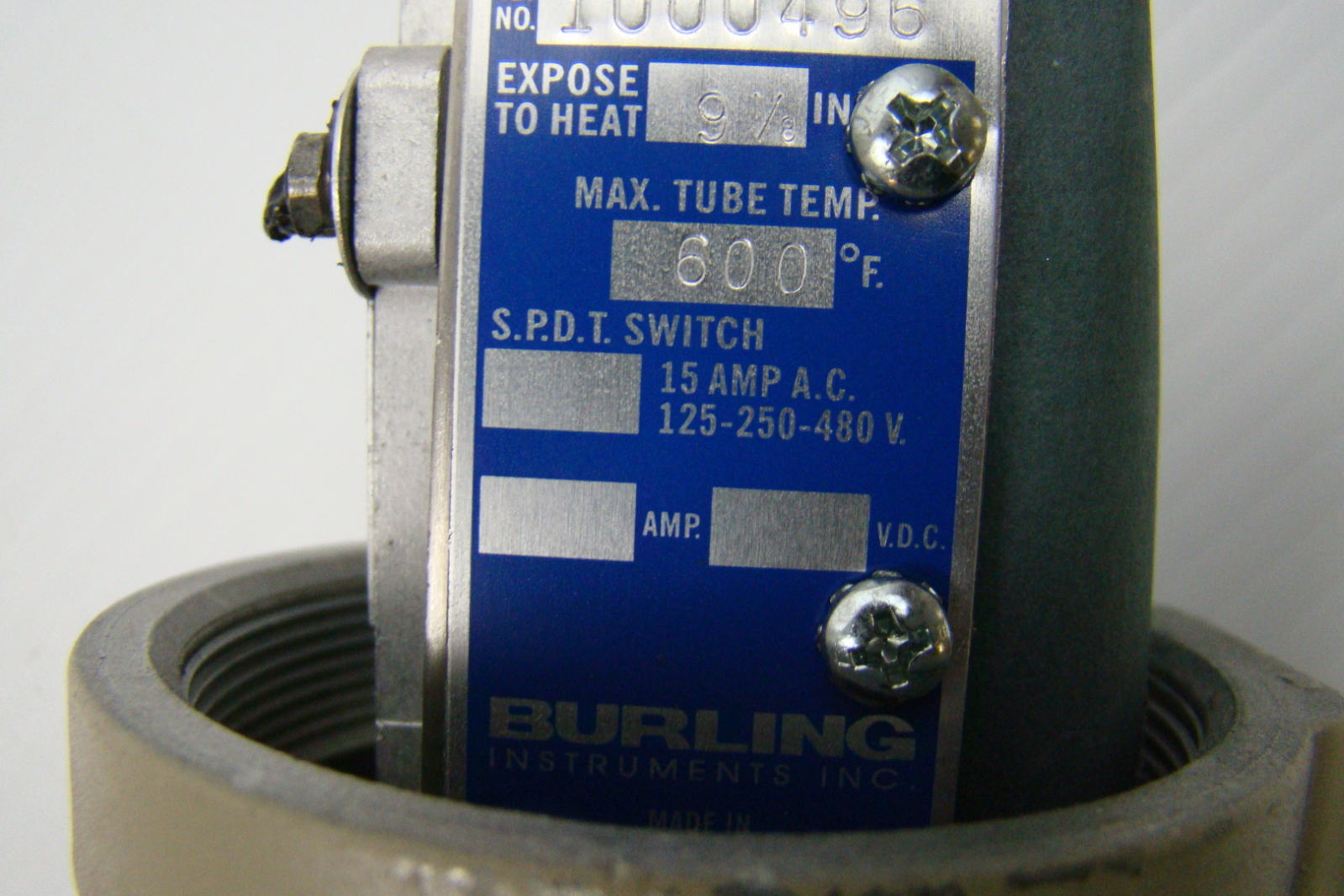 Details about Burling Instruments Temperature Control Switch B 2C #0E2C76