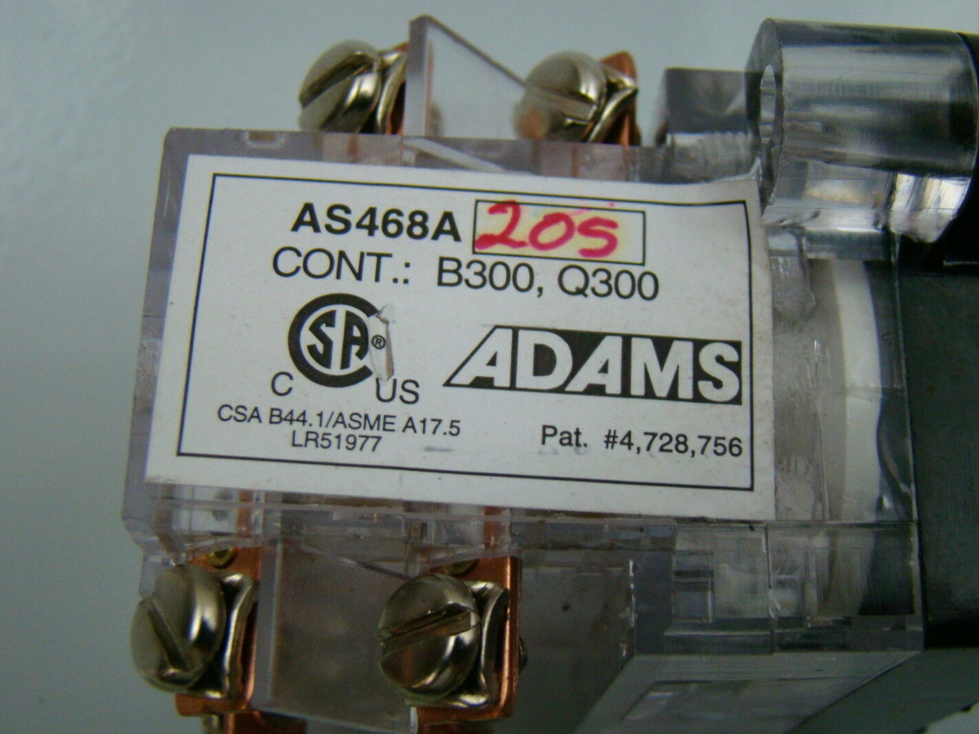 Adams Survivor Up  U0026 Down Elevator Switch As468a205