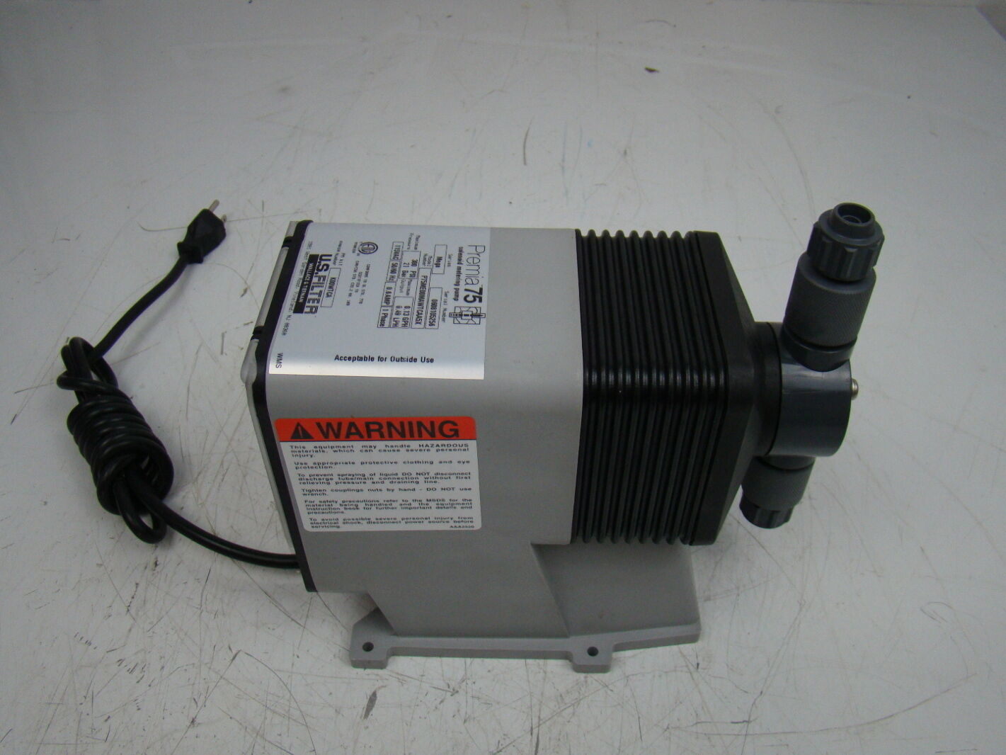 Wallace & Tiernan Premia 75 Solenoid Metering Pump 115VAC P75ME00MAWTCAA5X | Joseph ...
