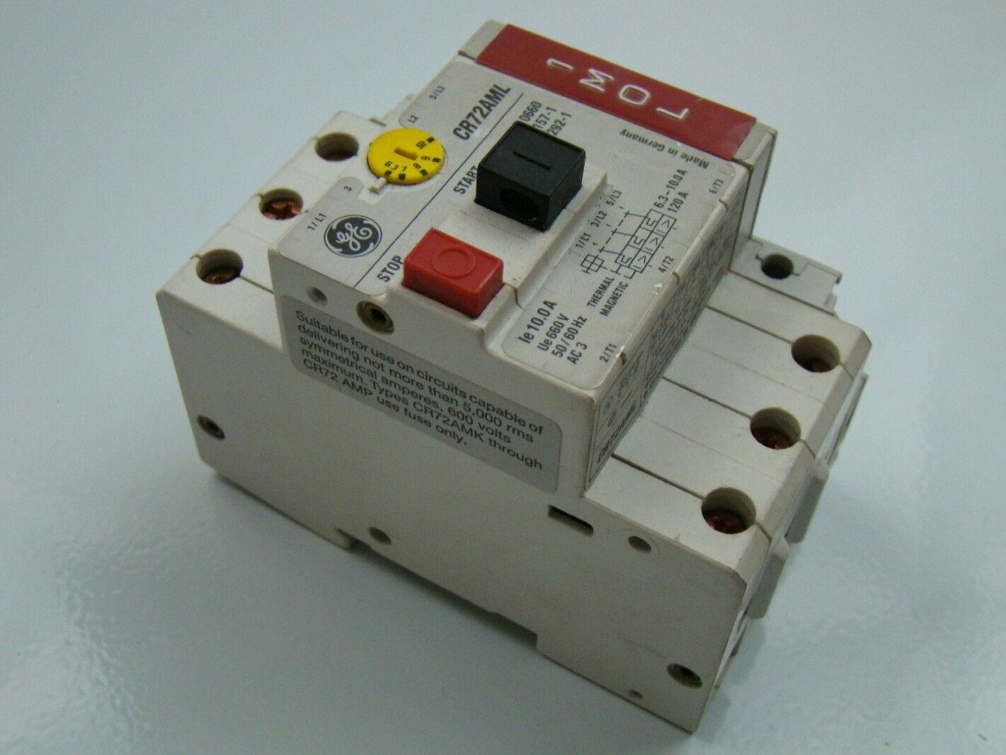 General Electric 6 3 10amp Starter Motor Protector Cr72aml