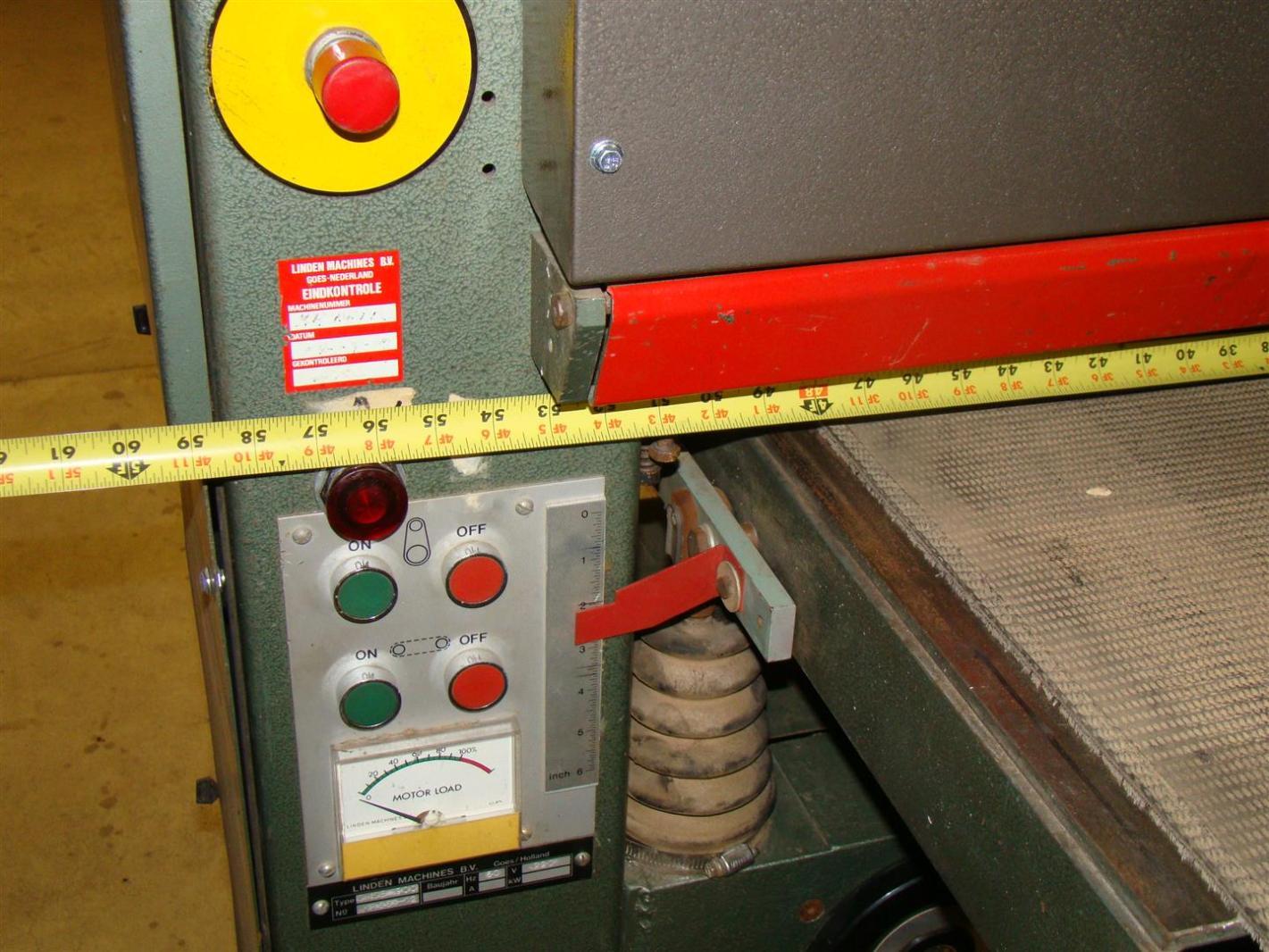 37 quot sandingmaster wide belt sander 220v 3 phase ebay