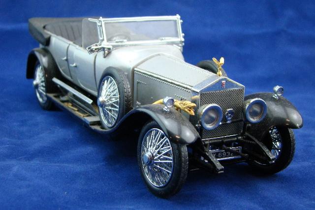 Franklin Mint Die Cast Model Car 1925 Rolls Royce Silver Ghost