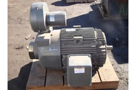 GE 100HP Severe Duty Electric Motor w/ GE Blower 5KS49MN4583B 460V R80600LE081LC