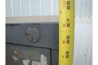 "Stanley Vidmar 6 Drawer Tool Storage Cabinet Grey 45x27-1/2x57"" w/ Lock Latches"