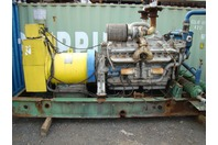 Detroit Diesel v16 Turbo 750kw Marathon AC Generator Skid Mount Genset 277/480v