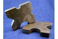 "(PAIR) 8.5x10 Arbor Plates 1.75"" Thick, Hydraulic H-Frame Shop Press, V-Cut"