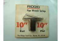"""Ridgid Pipe Wrench Springs  10"""" Coil Flat"""