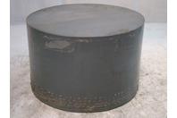 "14"" Gray PVC Rod Polyvinyl Chloride Plastic 8-7/8"" Long"