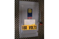 Square D 100A Safety Switch 3 Pole Fused 600vAC H-393