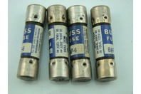 (4) Bussmann Fuses 250  Volts Or Less  Baf6  Misc Fuse