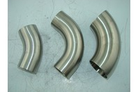QTY 3 - (VARIOUS SIZES) STAINLESS STEEL SANITARY ELBOWS