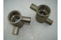 "QTY 2 - STAINLESS STEEL BALL TYPE FITTINGS  4.4"" AND 3"""
