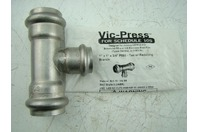 "VICTAULIC - VIC-PRESS SS 1"" X 1"" X 3/4"" P593 - TEE W/REDUCING BRANCH"