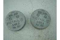 QTY 2 - VICTAULIC GALV GRV CAP 60