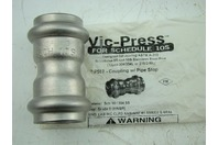 "VICTAULIC - VIC-PRESS SS P597  1 1/2"" COUPLING WITH PIPE STOP"