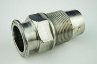 "1-1/2"" Tri-Clamp x NPT Threaded Flanged Sanitary Pipe Fitting"