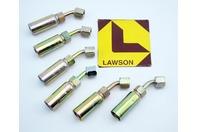 (6) Lawson 1/4x1/4 Hydraulic Fitting Female Swivel JIC 37deg Elbow 88387
