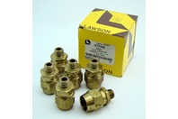 (5) Lawson 1/2 x 3/8 Brass Male Connector 97248