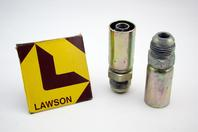 (2) Lawson 5/8x3/4 Hydraulic Crimp Fitting JIC37 Male 88343