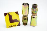 (2) Lawson 3/4x3/4 Hydraulic Crimp Fitting Male Pipe Swivel