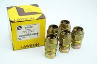 (5) Lawson 1/2ID x 7/8-20 Brass Female Connector 97258