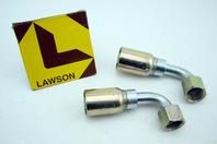 (2) Lawson Weatherhead 90-Degree Female Swivel Tube Elbow Fitting 08U-668
