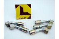 "(5) Lawson Weatherhead Female Swivel 45° Tube Elbow Fitting 3/8"" ID 06E-688"