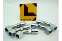(5) Lawson Weatherhead Hydraulic Hose Fitting 069-08E