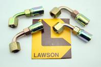 (4) Lawson Weatherhead Steel Crimp Hose Ends 06E-466