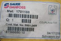 Sauer Danfoss Coupling 15T Genuine Parts 5001-2489