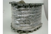 "Plastic Conveyor Belt SP620 Flush Grid Polypropylene Gray 8.9"" x 10'"