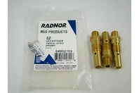 (3 pcs) Radnor 64002722 Mig Products 52 Gas Diffuser 200AMP