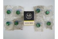(8) Allen Bradley Green Light Lenses 800T-N26G