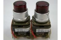 (2) Allen Bradley AC/DC 24v Push Buttons 800T-Qt24