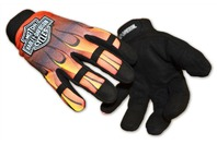 Harley Davidson Mechanics Flame Glove Size: Large