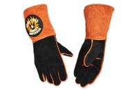 Harley Davidson RIDE FREE Orange & Black Leather Kevlar Welding Gloves Size: L