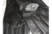 "Harley-Davidson ""Spectra"" Canretta Leather Gloves Embroidered Logo Size: L"