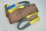 "6"" x 10' Brown Heavy Duty Nylon Sling Tow Recovery Strap 12,000 lbs Single Ply"