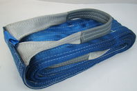 "8"" x 20' Blue Heavy Duty Nylon Sling Tow Recovery Strap 16,000 lbs Single Ply"
