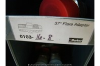(4)Parker Hydraulic Fitting 37 deg Flare Adapter 0103-16-8