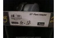 (4)Parker Hydraulic Fitting 37 deg Flare Adapter 0503-16-12