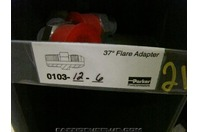(4)Parker Hydraulic Fitting 37 deg Flare Adapter 0103-12-6