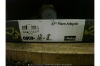 (4)Parker Hydraulic Fitting 37 deg Flare Adapter 0503-12-8